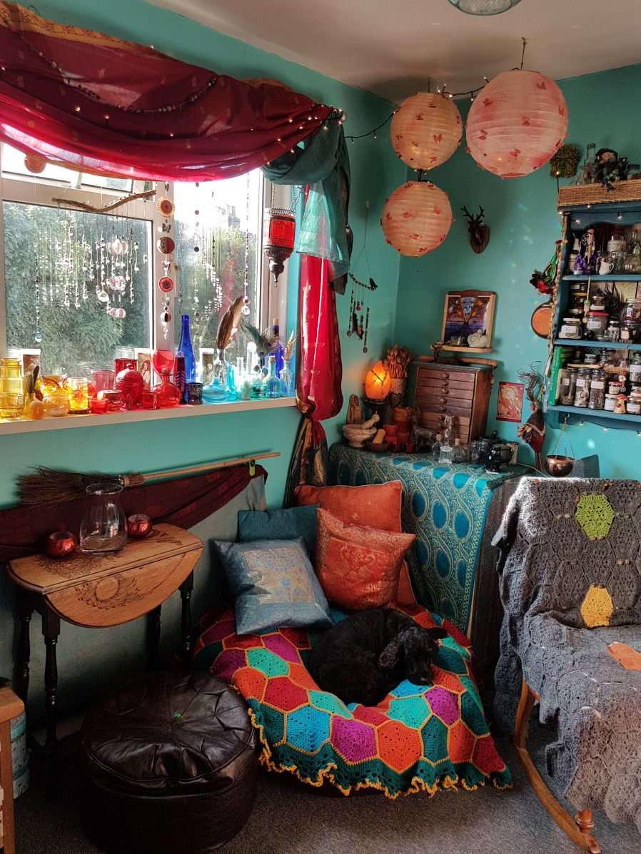 My Witchroom One Year On | Aesthetic bedroom, Witch room ...