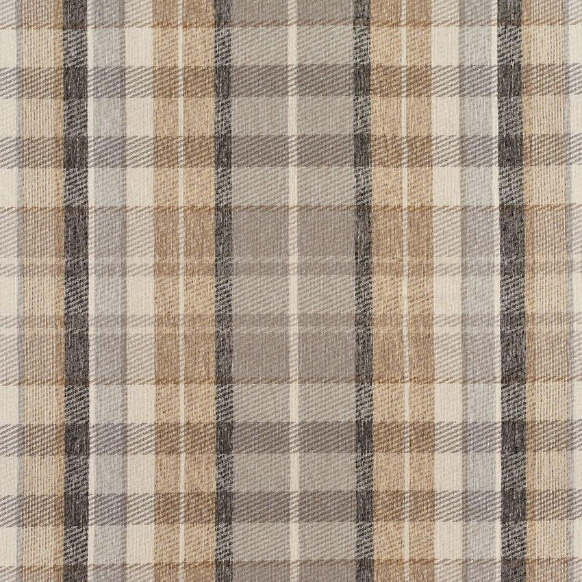 Flannel Beige And Gray Plaid Tweed Upholstery Fabric Upholstry
