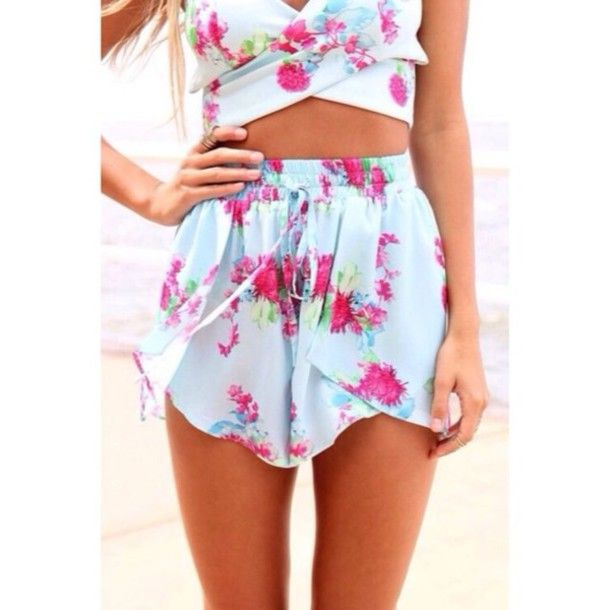Shorts, $48 at saboskirt.com - Wheretoget | Floral shorts and ...
