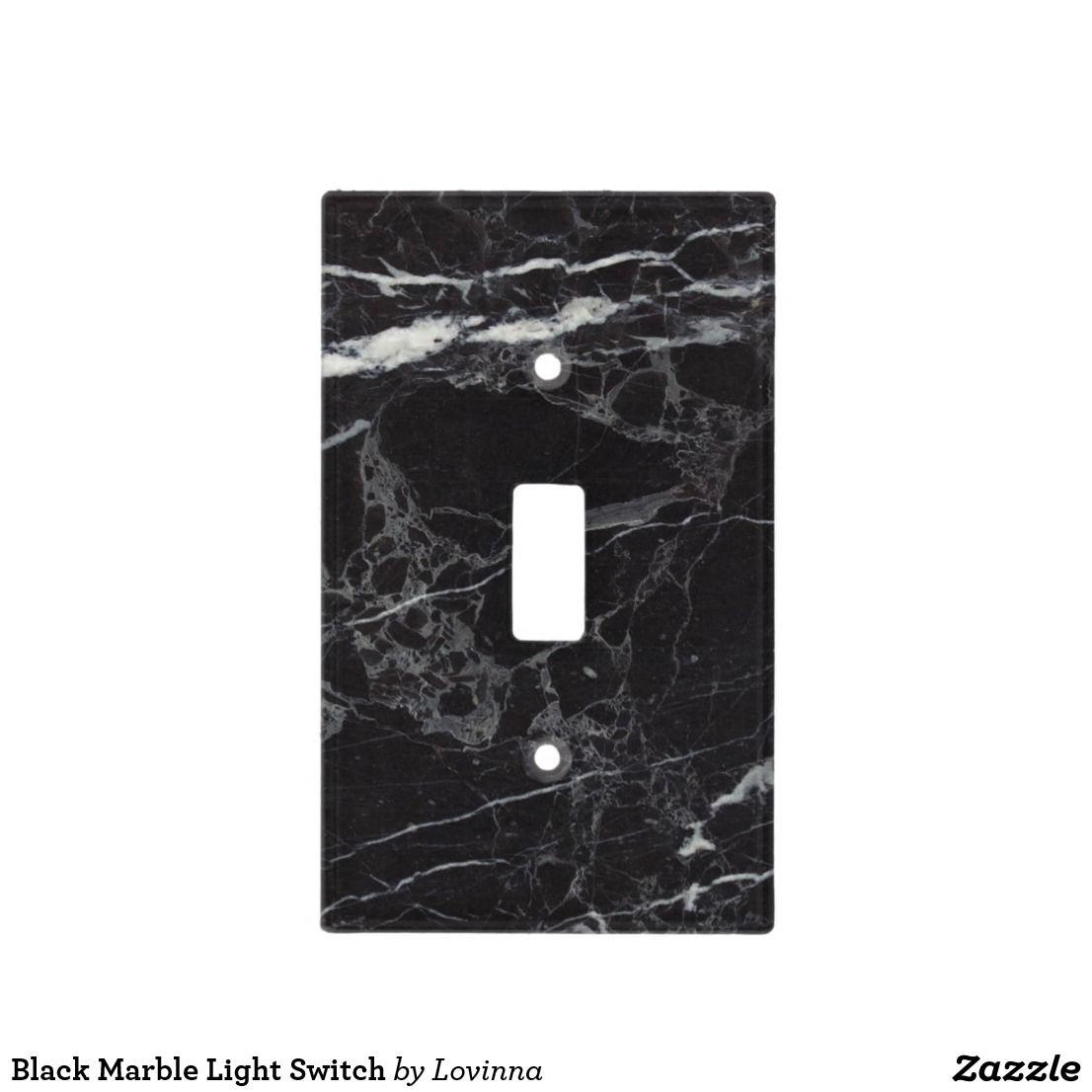 Black Marble Light Switch Zazzle Com In 2019 Black Switch Plates Black Light Switch Modern Light Switches Black Marble