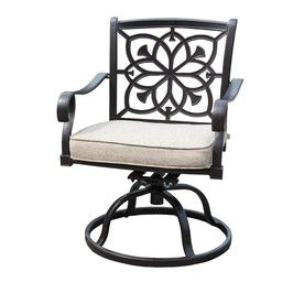 Amazing Sunjoy Ebervale Aged Bronze Aluminum Patio Dining Chair Gamerscity Chair Design For Home Gamerscityorg
