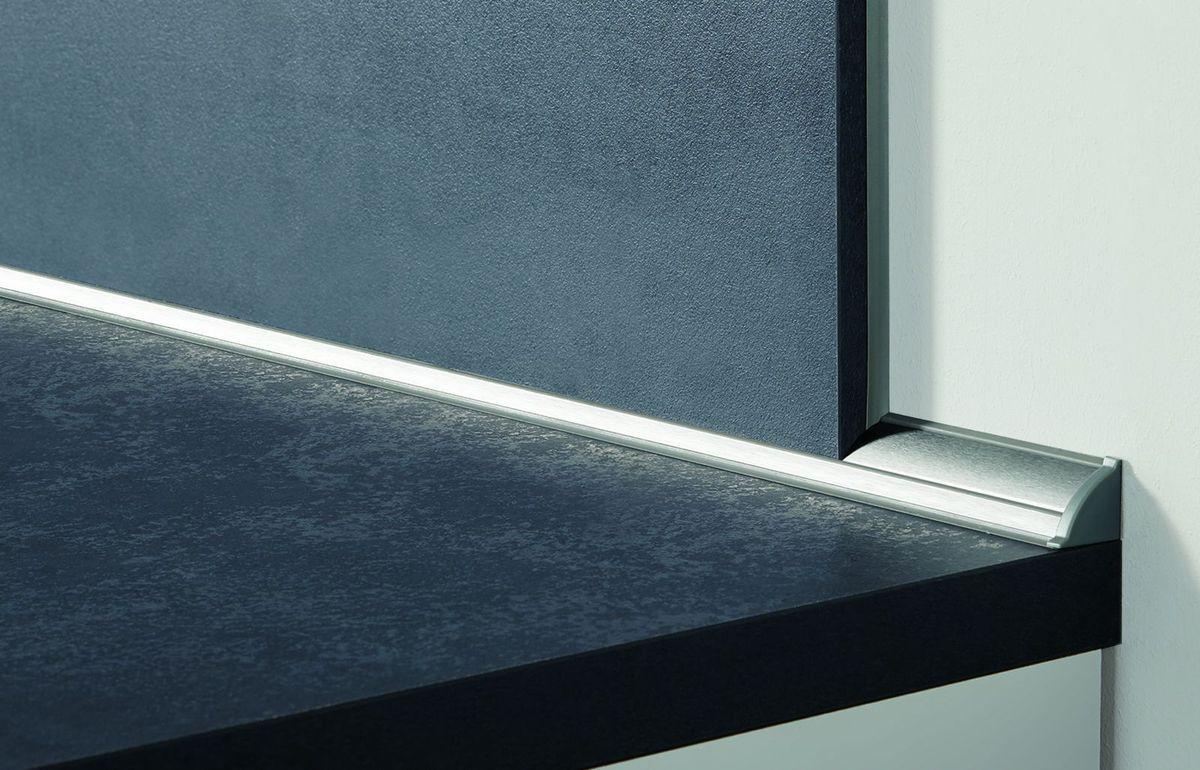 nobilia mini kitchen Delbrück 195 cm alpine white matt concrete slate gray kitchenette