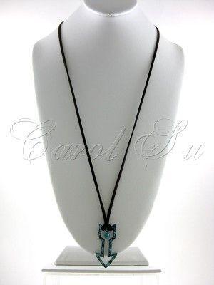 TQ Patina Arrow Necklace