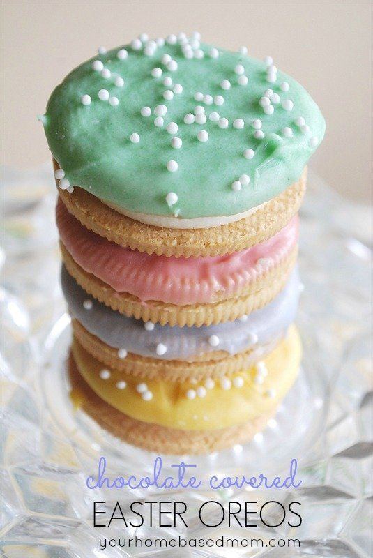 Chocolate Covered Easter Oreos @FoodBlogs