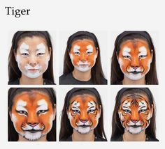 pinturas faciais leão - Pesquisa Google