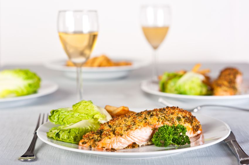 Pecan and dill crusted salmon