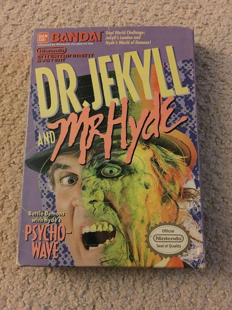 Dr Jekyll And Mr Hyde Nintendo Nes Cib Complete In Box Very Good Shape Retro Video Games Nintendo Nintendo Nes