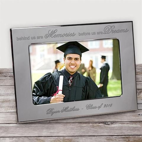 personalized graduation silver picture frame personalized picture