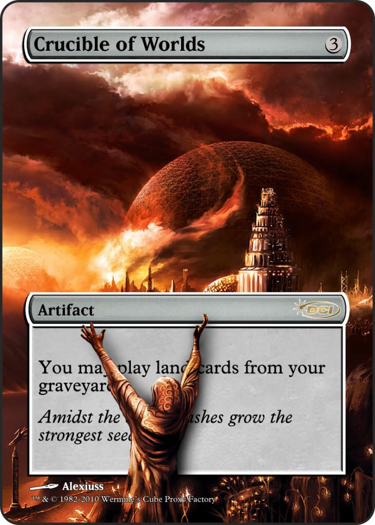 Custom Crucible of Worlds Proxy   Magic The Gathering Proxies