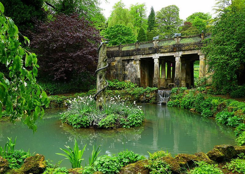 Brilliant The Snake Pond And Indian Bridge At Sezincote By Interior Design Ideas Inesswwsoteloinfo