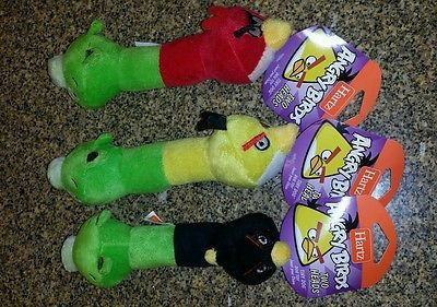 3 New Hartz Angry Birds Two Heads 8 5 Plush Squeaker Small Dog