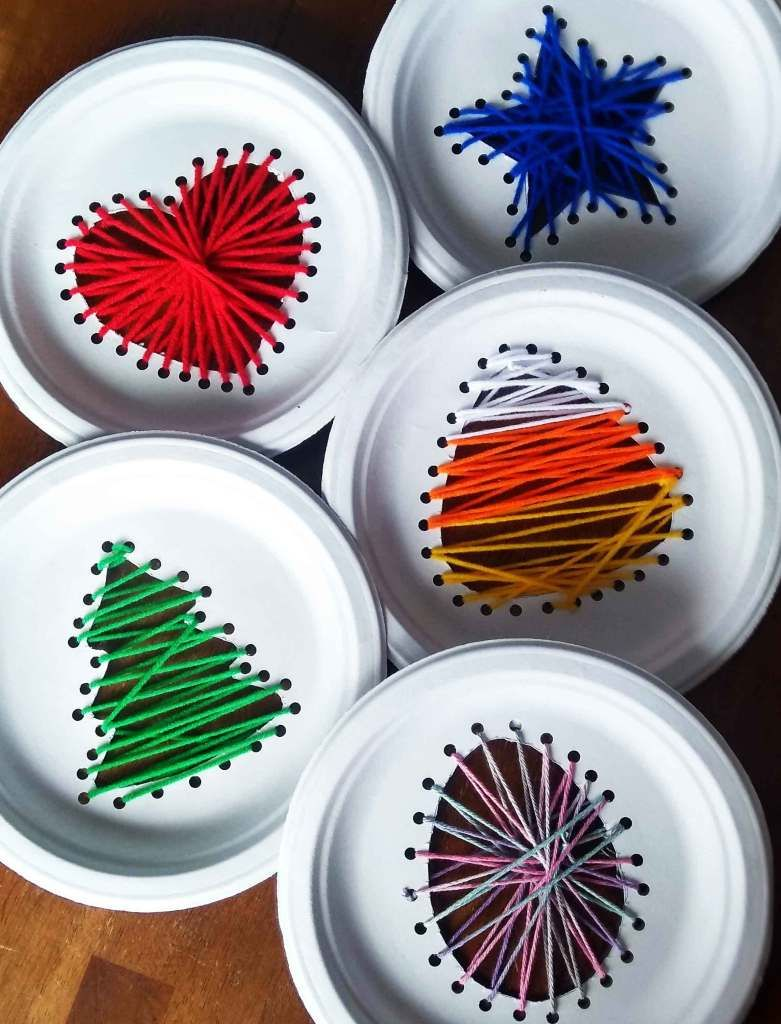 Photo of Kids paper plate string art for every holiday | My Silly Squirts