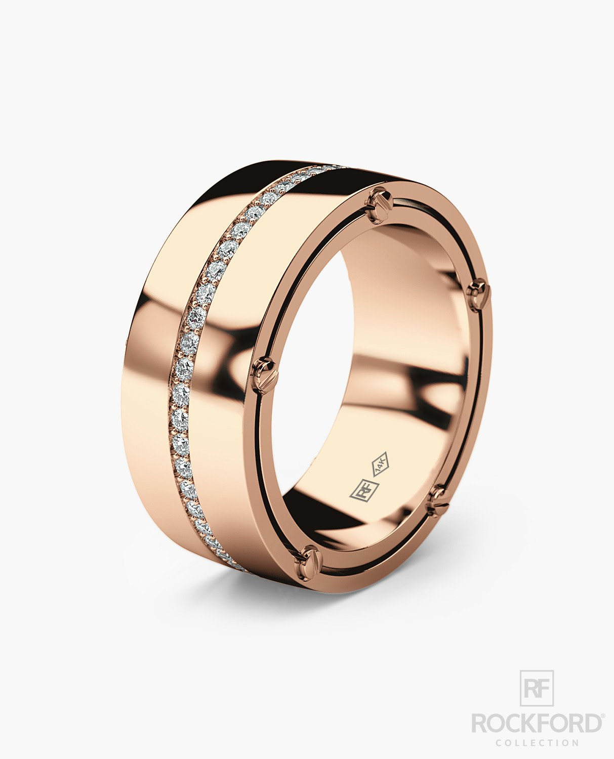 Fashion style Wedding mens bands styles with masculine detail for lady