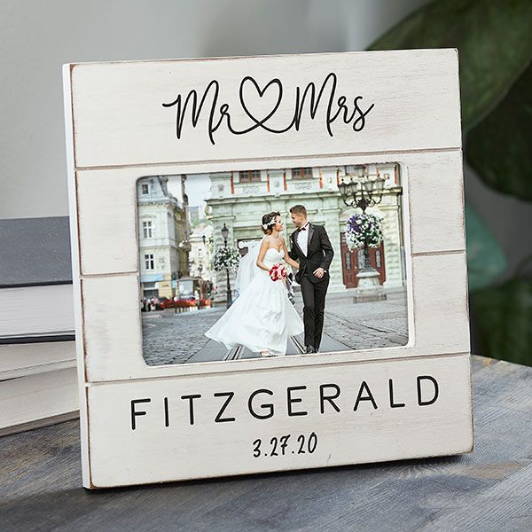 Infinite Love Personalized Wedding Shiplap Picture Frame #personalizedwedding