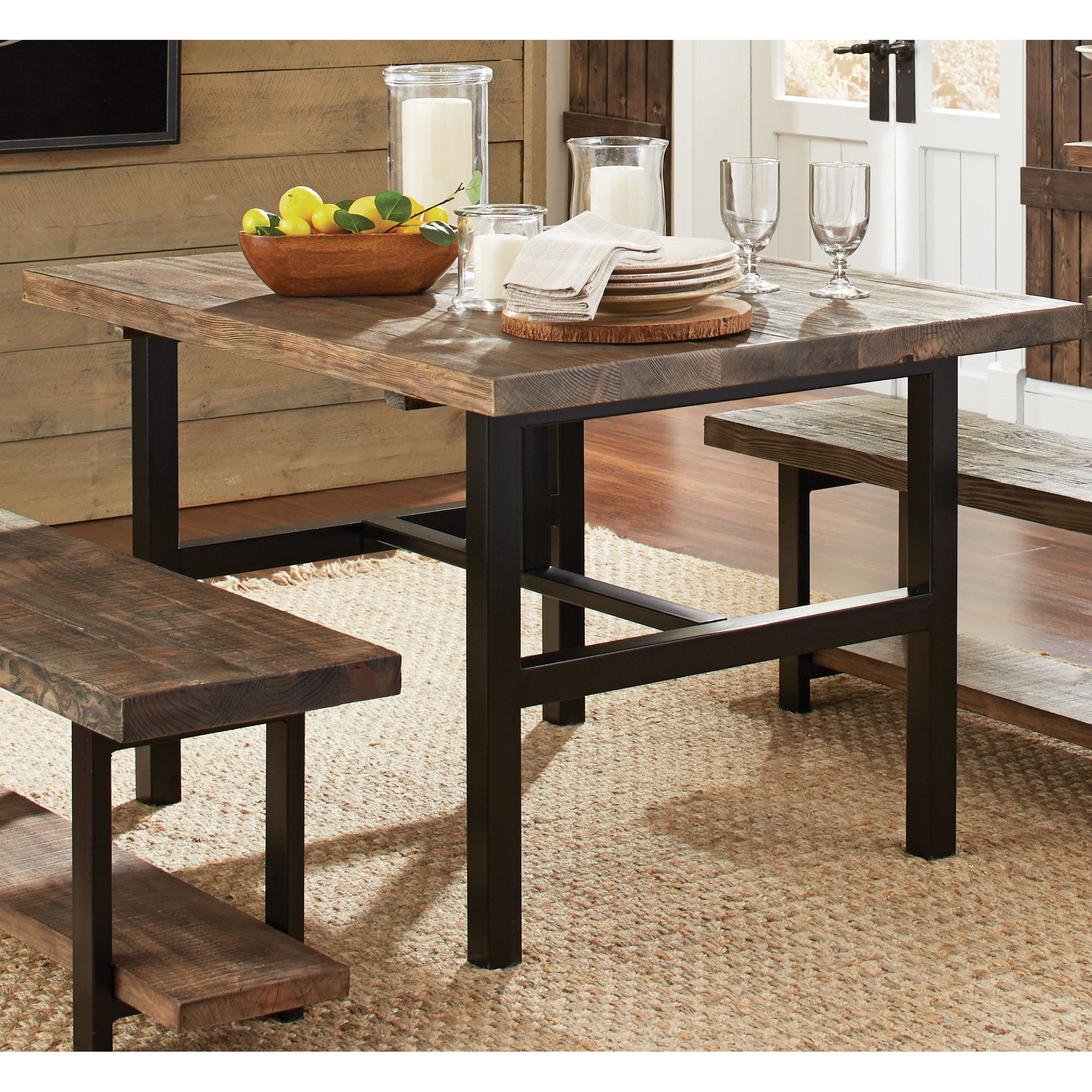 Loon Peak Reg Somers Dining Table Wood Dining Table Reclaimed