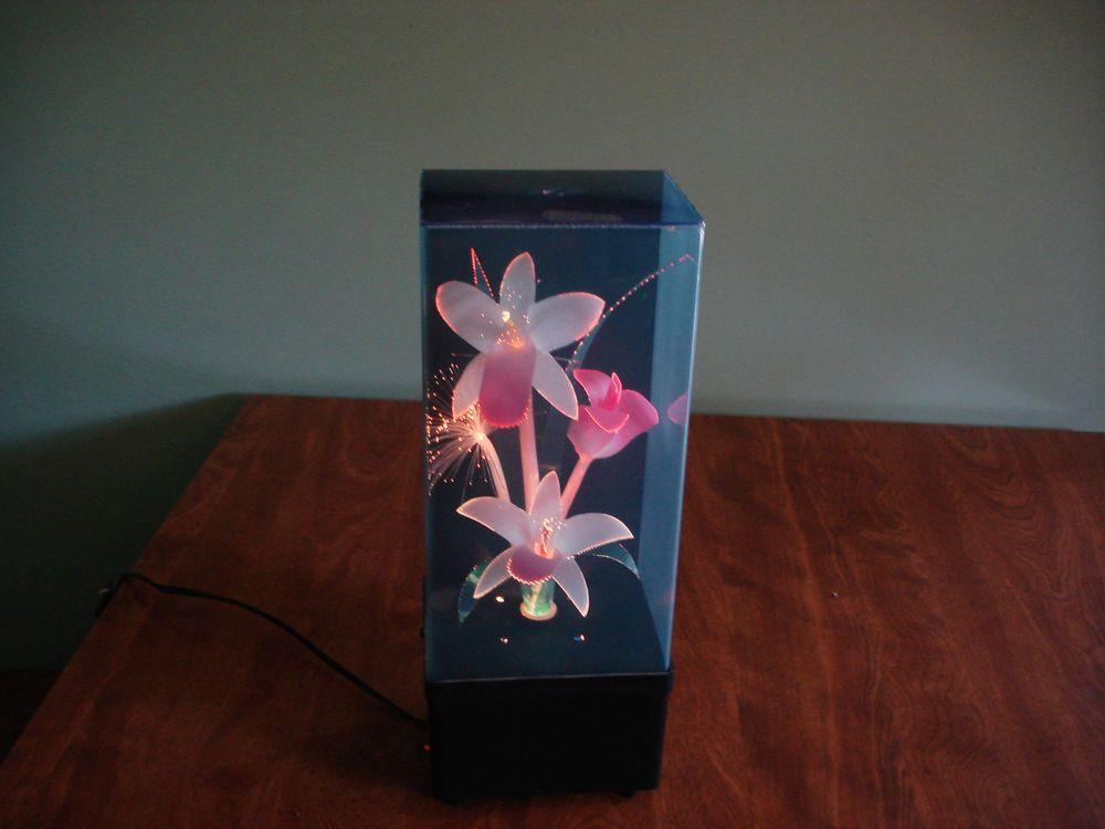 Vintage Retro Fiber Optic Flower Lamp Musical Box 1980 S Flower Lamp Musical Box Flower Boxes