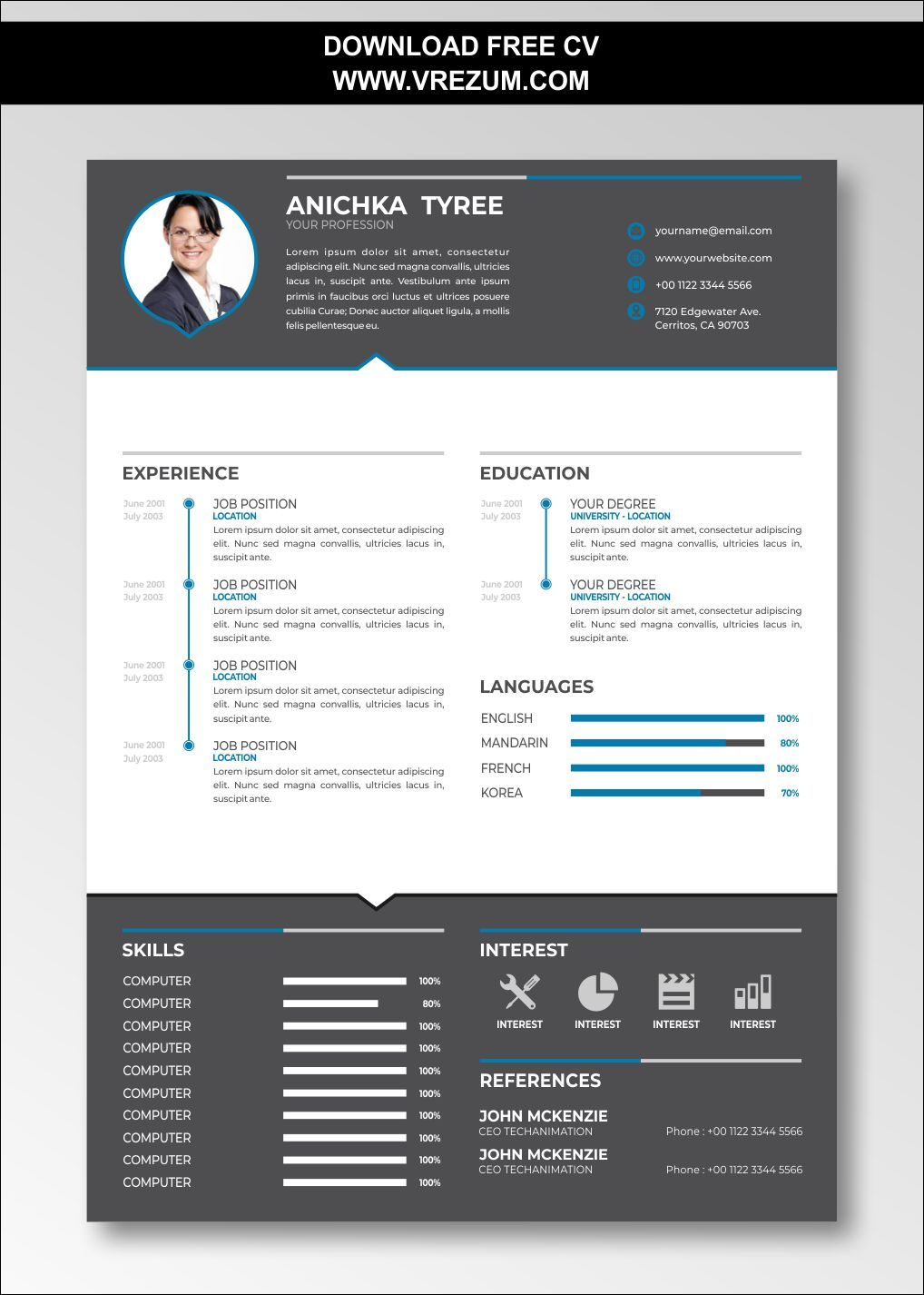 (EDITABLE) FREE CV Templates For Housekeeping in 2020
