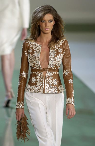 Valentino Spring 2003  so nice but it does need a camisole or something under the jacket