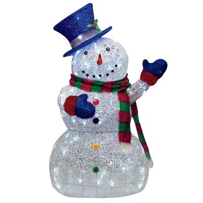 Lighted Snowman Lawn Decoration Led Lighted Sugar Thread Snowman Lights Outdoor Yard Decoration Ebay Snowman Decorations Yard Decor Decor