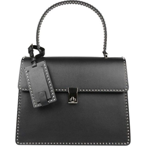 Valentino Garavani Studded Leather Bag 10 415 Sar Liked On Polyvore Featuring Bags