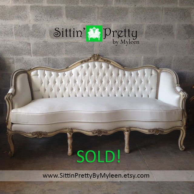 sold antique french louis xvi 1880 baroque rococo tufted sofa chair settee couch bergere. Black Bedroom Furniture Sets. Home Design Ideas