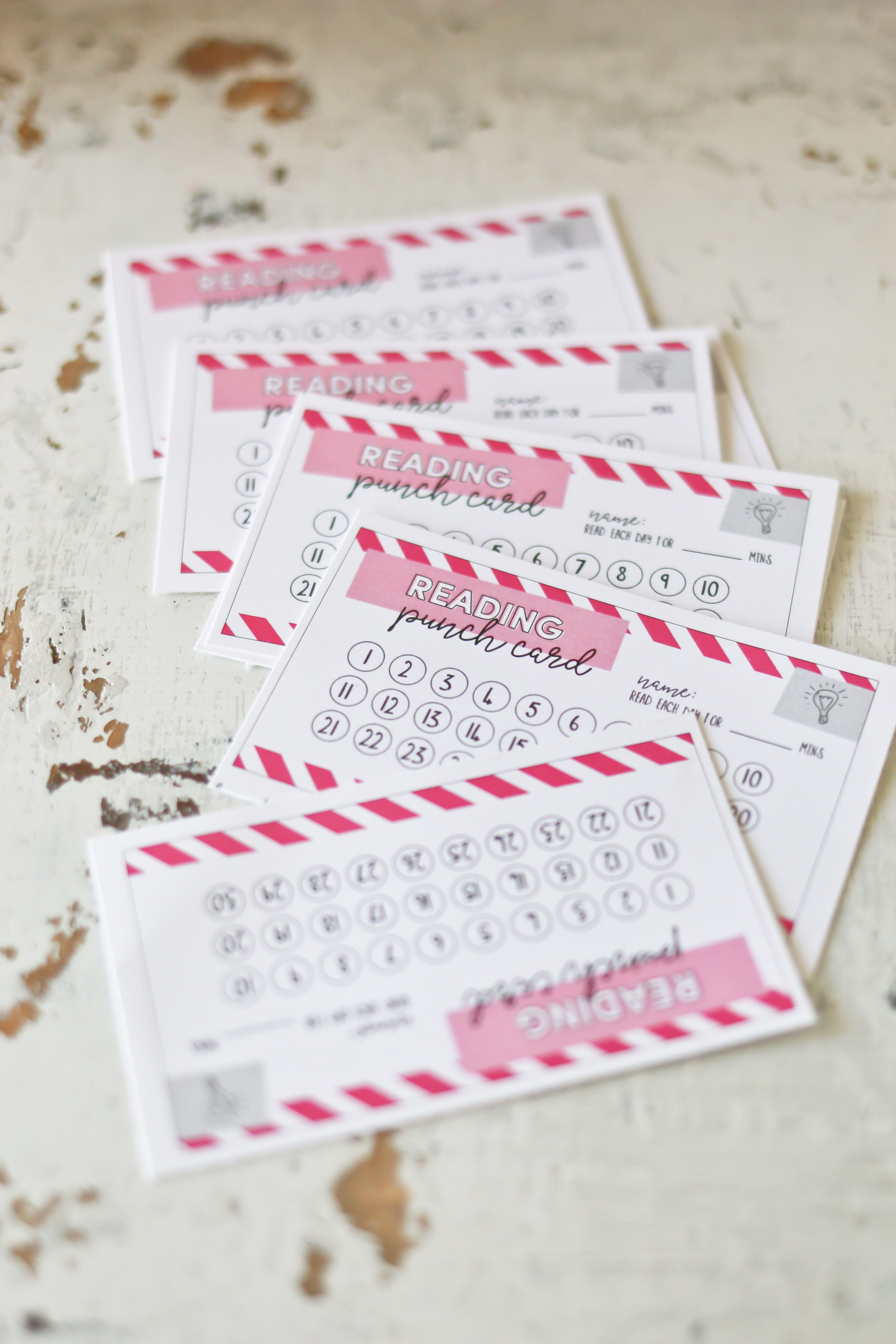 Kids Punch Cards To Help Them Stay Exciting About Reading