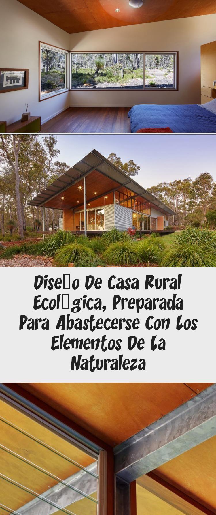 Diseno De Casa Rural Ecologica Preparada Para Abastecerse Con Los
