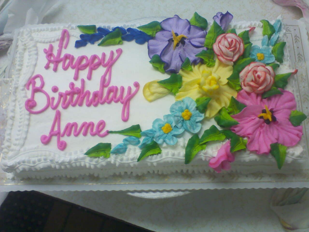 Happy Birthday Anne Cakes Google Search Butter Cream Cheese