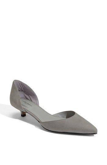 Kitten Heels in Grey | C H A U S S U R E S | Pinterest | Kitten ...