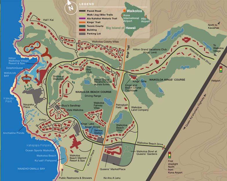 Map Waikoloa Beach Resort