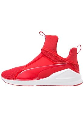 FIERCE CORE - Sports shoes - high risk red/white