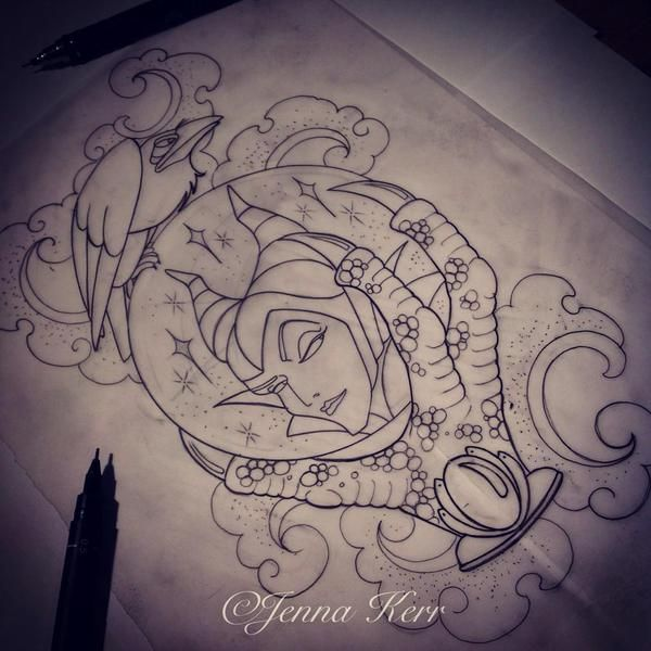 Maleficent Heart Tattoo Design Dragon