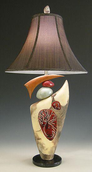 Pin By Cheryl On Lightsites Pottery Lamp Ceramic Lamp Lamp