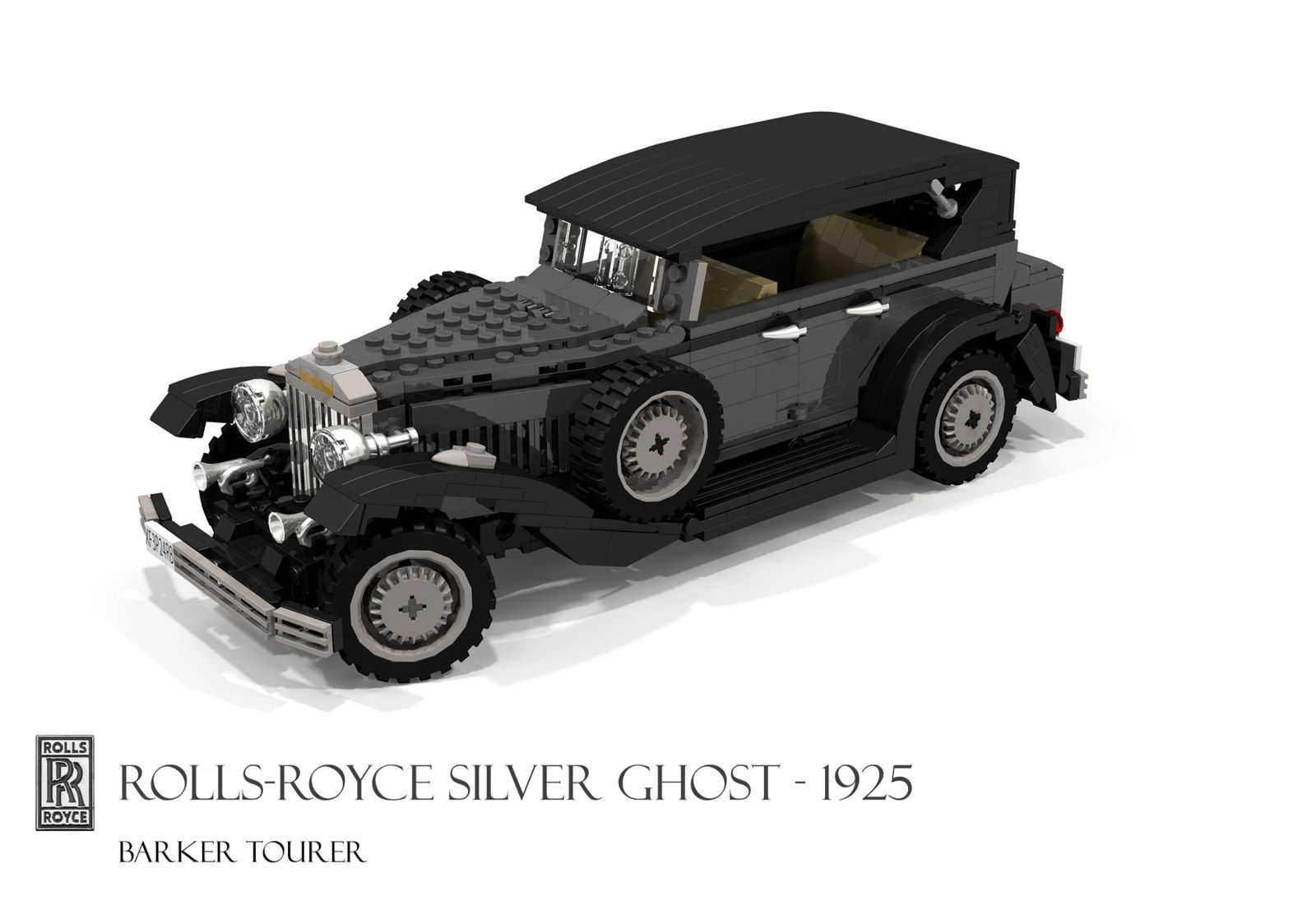 Rolls Royce 1925 Silver Ghost Barker Tourer Lledo Vintage Collection Rolls Royce Lego Cars Miniature Cars