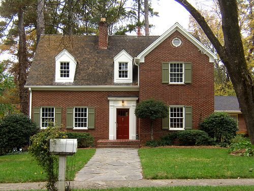 Shutter colors for red brick house before black too Black brick homes