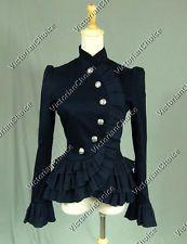 Victorian Edwardian Riding Military Jacket Blazer Steampunk Costume C032 L