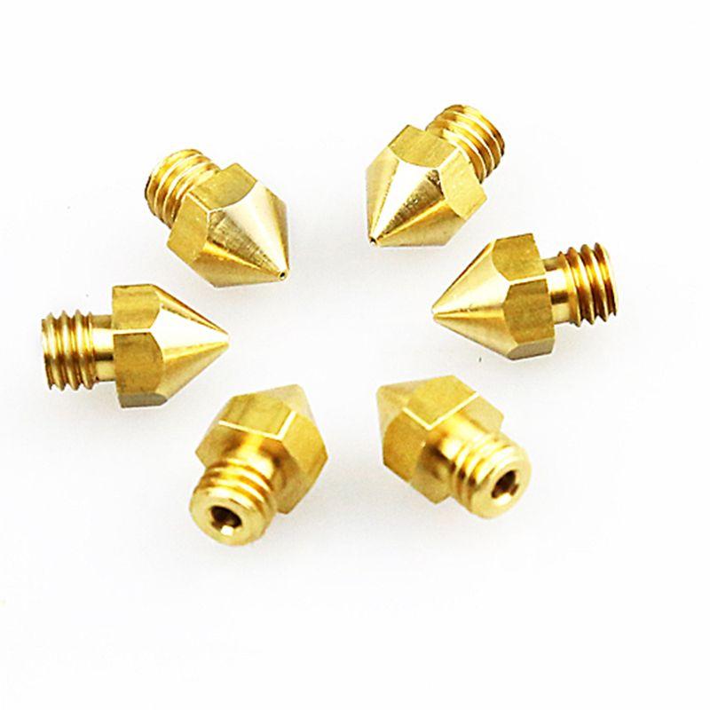 16 PCS 3D Printer MK8 Brass Extruder Nozzle Print Head with 4 DIY Nozzle Tools,