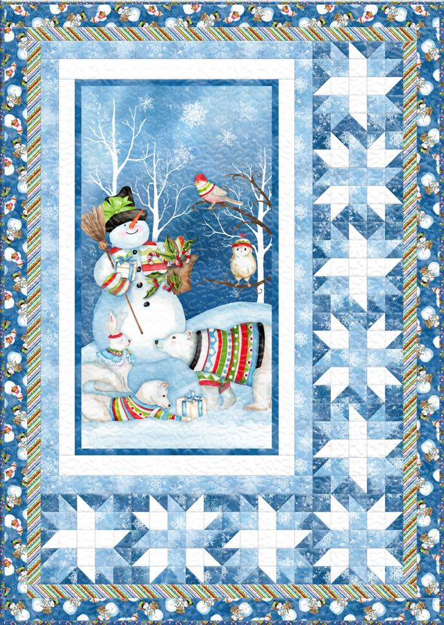 Snowy Friends Free Quilt Pattern Quilting Christmas