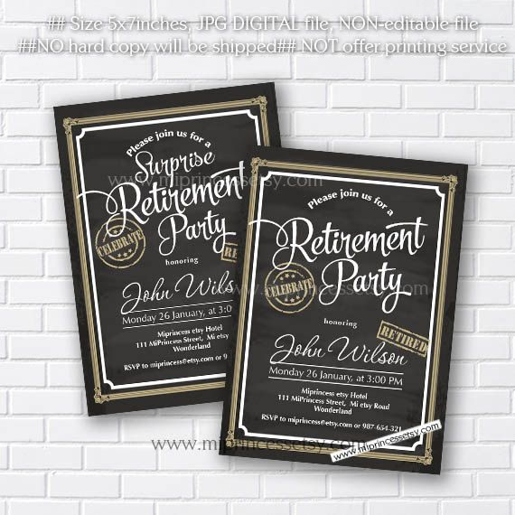 Retirement Invitations Retirement Party Invitation Retirement