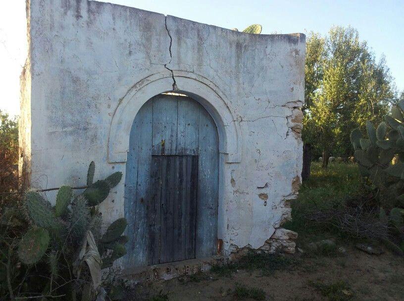 Oude deur in beni khiar, tunesie
