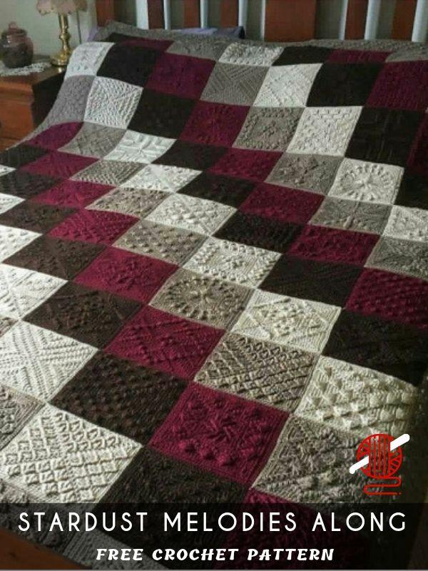 12 Squares Stardust Melodies Crochet Along [FREE #grannysquares