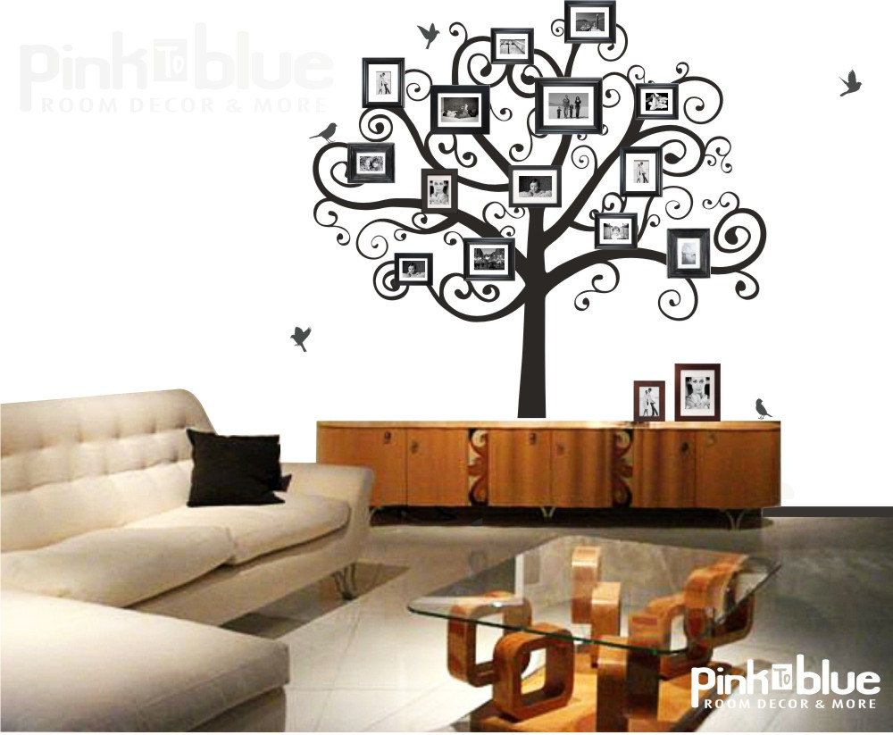 Family Tree Wall Decal - Picture Frame Tree. $98.00, via Etsy. | For ...