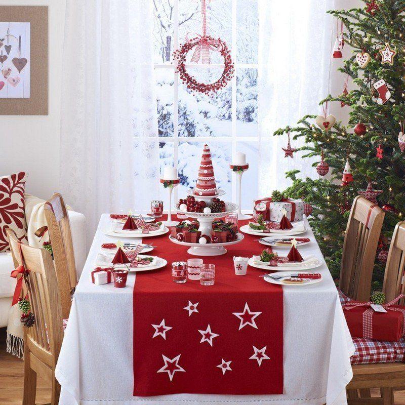 Idee Deco Table Noel Rouge Et Blanc Covena