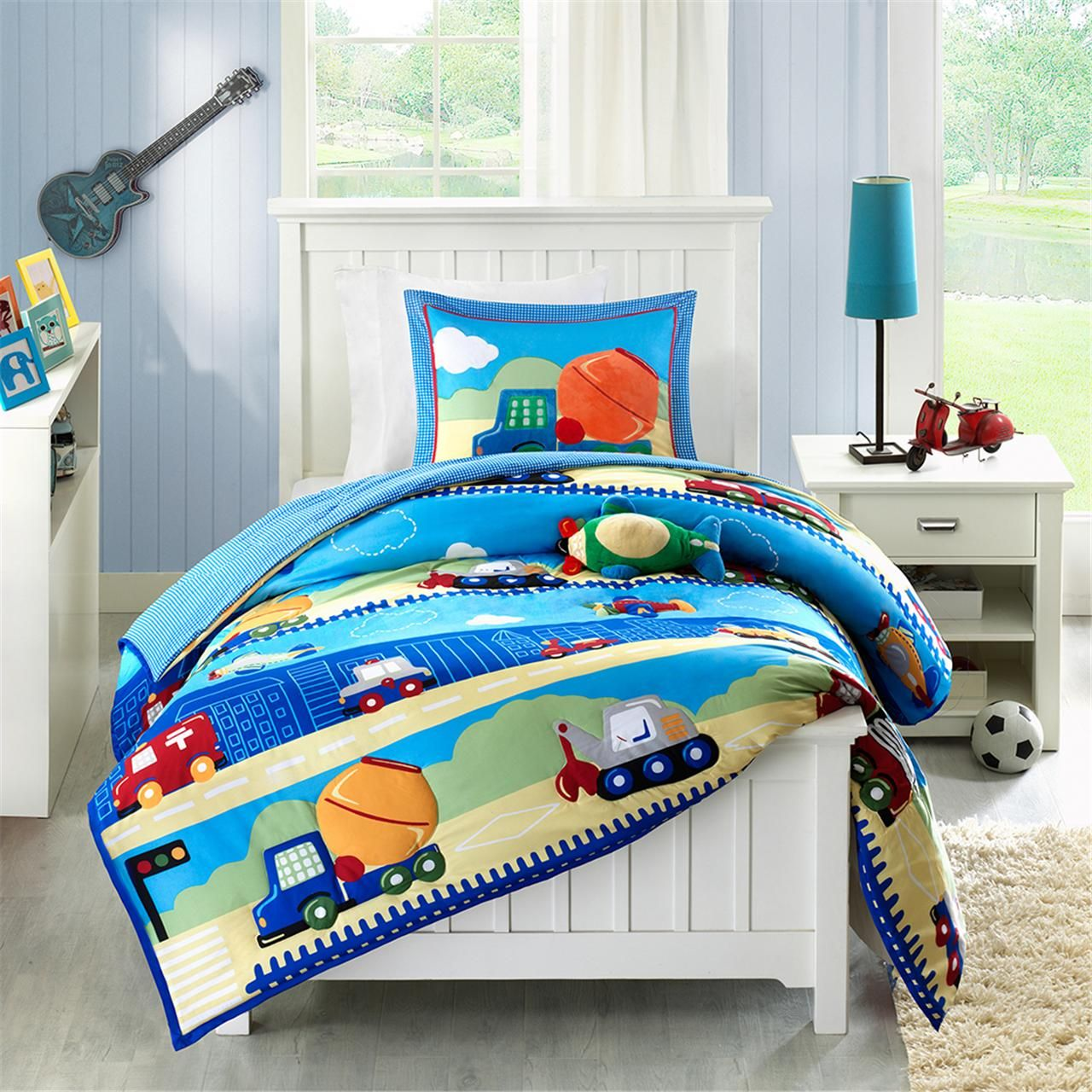 for sheets size set sets bedding twin boy queen improveme comforter home cars check cover bed kids boys