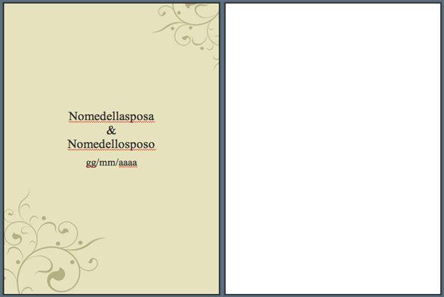 Libretto matrimonio modelli word da scaricare e stampare - Modelli di ghirlanda stampabili ...