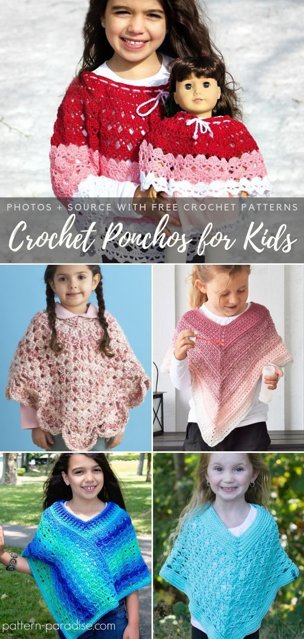 Crochet Ponchos for Kids Free Patterns