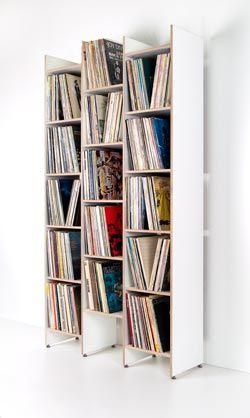 ORWE Multiplex-Regal weiß für Schallplatten - Grundmodul | Regal ...
