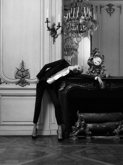 Model: Anja Rubik Photographer: Hedi Slimane Magazine: Vogue Paris 2010