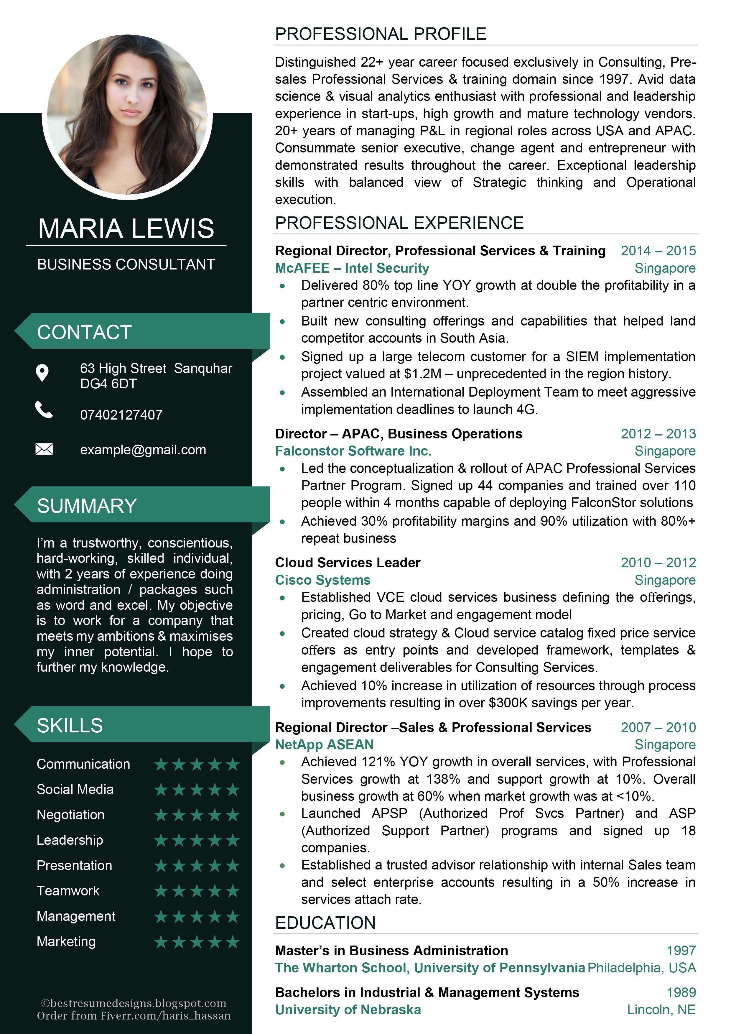 CV Design No 26 Resume design, Cv examples