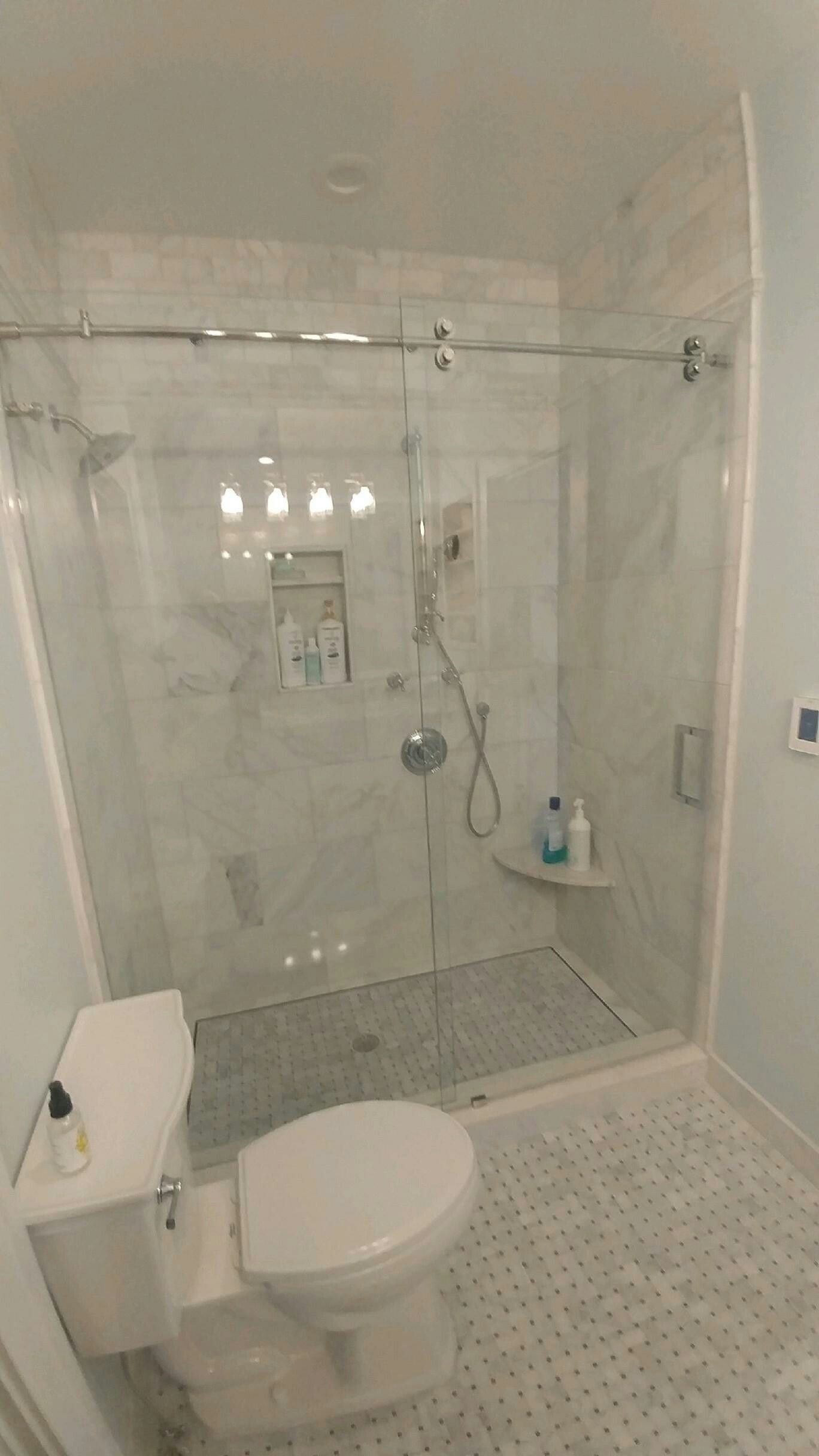 Barn Door Style Shower Enclosure Brittandtilsonglass Asheville Showerenclosure Framelessshower Www Brit Shower Doors Sliding Shower Door Frameless Shower
